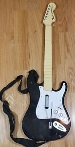 Wii Rock Band Harmonix Guitar Controller Fender Stratocaster (NO DONGLE) W/strap