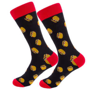 BIG-Hamburger-Mens-Funky-Happy-Crew-Socks