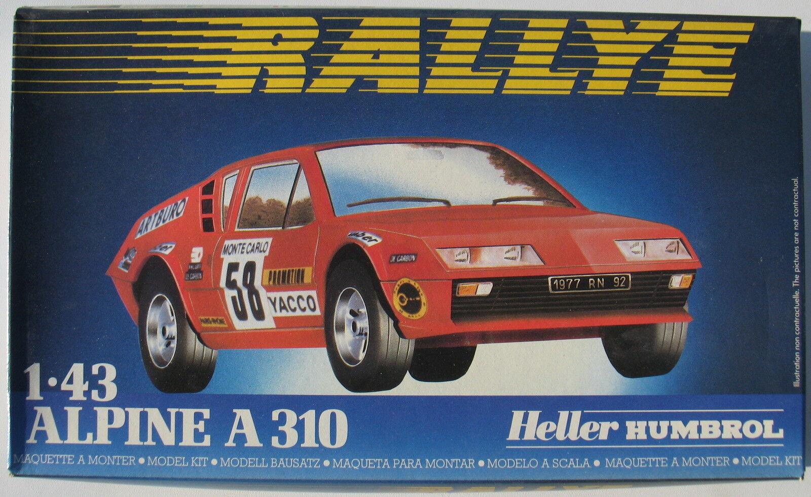 Heller 80146 - ALPINE A 310 - RALLYE - 1 43 - Car Modelbausatz - Model Kit