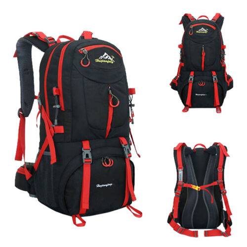 Large 50L Men Women Travel Backpack Hiking//Camping Rucksack Outdoor Luggage Bag