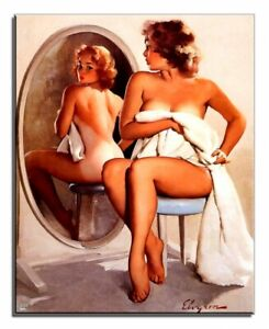Sexy-Woman-Real-Handmade-Frame-Print-Painting-Picture-Pictures-G17838