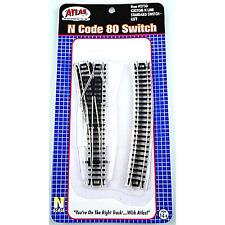 Atlas 2750 – Code 80 Standard Custom Switch Left – N Scale