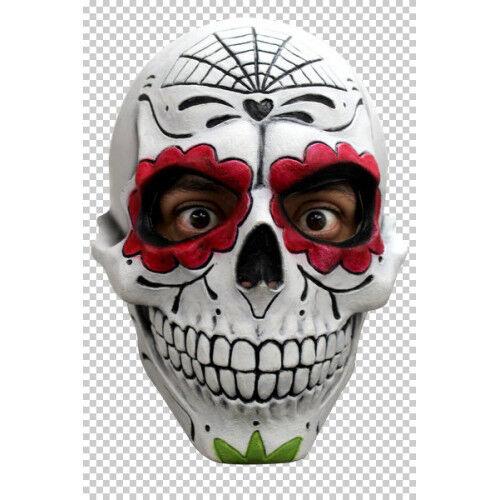 Giorno dei morti GENTILUOMO Catrin Latex head mask Costume Halloween Adulto