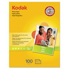 Kodak Photo Paper Matte 7 mil 8-1/2 x 11 100 Sheets/Pack 8318164