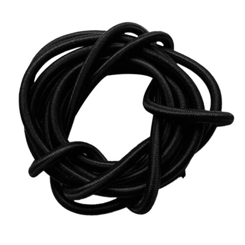 6mm Strong Black Elastic Bungee Rope Shock Cord Tie Down Straps 10m Length
