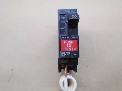 NEW General Electric THQB1120GFCI THQB GFCI Circuit Breaker 1 Pole 20 Amp