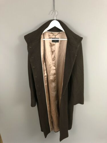 Coast Condition Women's Long Wool Brown Coat Uk16 Length Great CwS0PrqCx