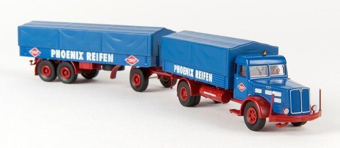 Brekina 86207 -  1 87 Faun L 8 L Pp-Zug - Phoenix Reifen - Neu  | Realistisch