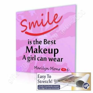 Motivation Quotes Smile Makeup By Alonline Dsn Canvas Rolled