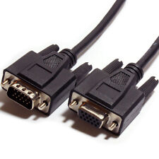 2m VGA Male to Female Extension Cable - Video Monitor to PC/Laptop Lead 15 Pin