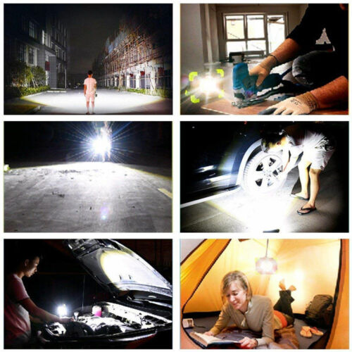30W LED Light Rechargeable Car Building Work Torch USB Charge Camping Power Bank