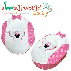 Personalised-Girls-Applique-Minnie-Mouse-Baby-Bean-Bag-NEXT-DAY-DISPATCH