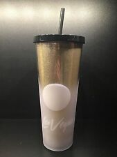 Starbucks LAS VEGAS Gold Glitz Cold Cup Tumbler 24 fl oz