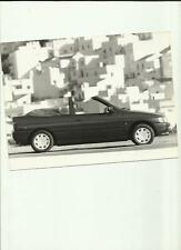 """FORD ESCORT CABRIOLET  PRESS PHOTO """"sales brochure related""""  1990"""