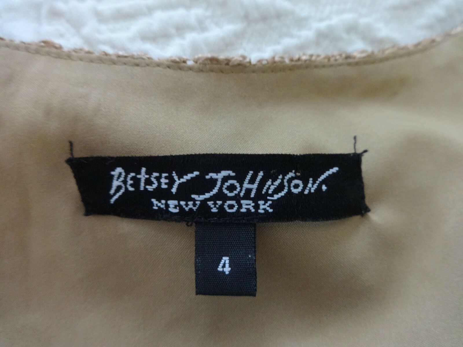 Abito in in in pizzo Betsey Johnson-US 4 UK8 6358e5