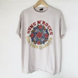 7acb23a5382e7 Details about 1991 Guns N Roses Use Your Illusion Vintage Tour Band Rock  Shirt 90s 1990s