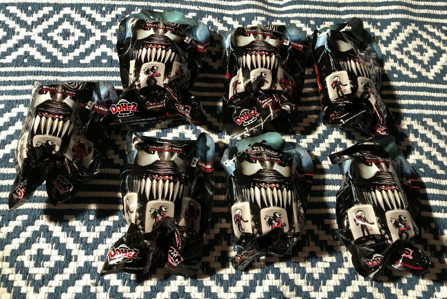 Lot Of 7 Marvel Domez Venom Collectible Mini's Mystery Pack NEW Collect Series 1