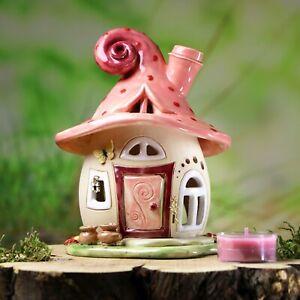 Wind Light Cottage approx 15 cm High-Pink Polka Dot-Honey Light Ceramic