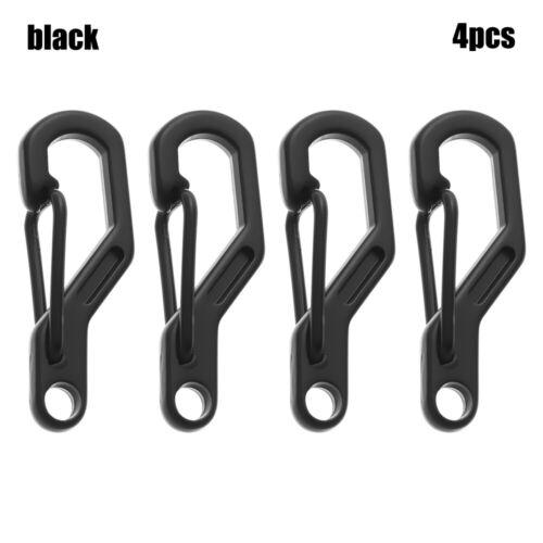 Small Carabiner Clip Snap Hooks Black Silver 28mm Long Mini Keyring Carabiner