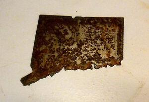 6 Inch HAWAII HI State Shape Rusty Metal Vintage Stencil Ornament Craft Sign