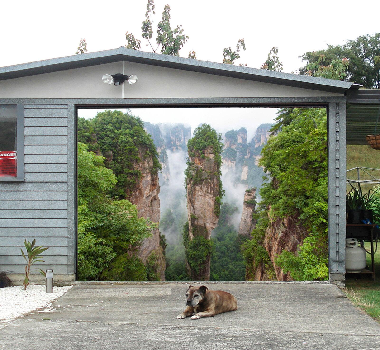 3D Montagnes Vue 4 Garage Door Murals Wall Print Decal Wall Deco AJ WALLPAPER FR
