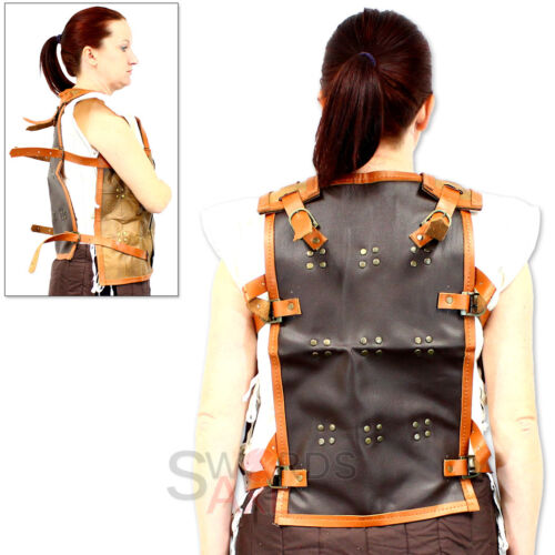 Leather Scale Viking Armor Harness Cuirass for LARP /& Cosplay Pleather Material