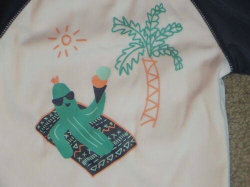 Gymboree Cactus Palm Tree Swimwear Long Sleeves Rash Guard Top Shirt 3-6 Months