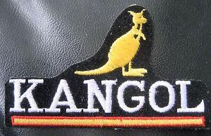 KANGOL-EMBROIDERED-SEW-ON-PATCH-BERET-HAT-CLOTHING-KANGAROO-4-x-2-1-4