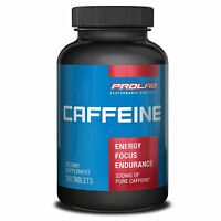 Prolab Caffeine Energy Pill 200mg 100 Tabs Focus Endurance Stamina Burn Calories on sale