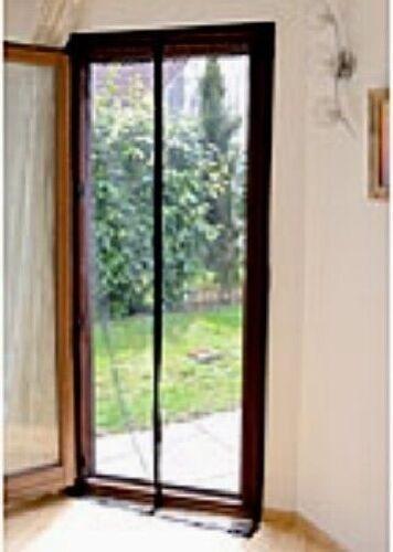 Selbstschliessendes noir premium-Moustiquaire avec fermeture magnétique pour portes