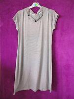 ESPRIT Kurzarm Nachthemd Sleepshirt Gr. 38 M NEU gestreift schwarz/weiß Viskose