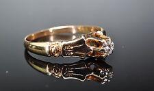 Art Nouveau 14K Yellow Gold VVS1 .15ct Old European Cut Diamond Engagement Ring
