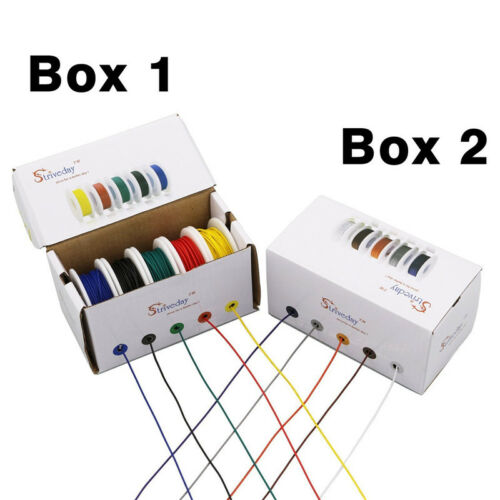 100m UL 1007 26AWG 10 color Mix box package Electrical Wire Cable Line Airline
