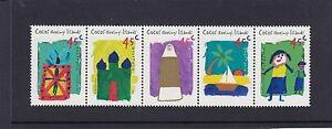 COCOS-Islands-1998-CHILDREN-039-s-ART-Strip-set-of-5-MNH