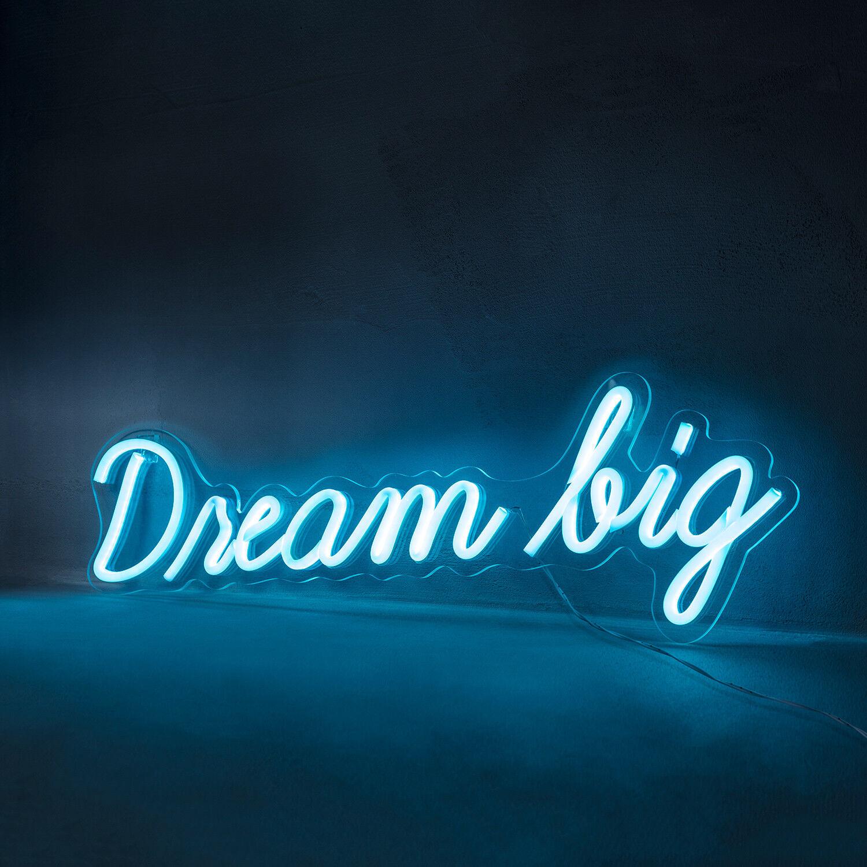 migliore offerta NEON LED LED LED SCRITTA  DREAM BIG  Muro Luce Interni Elettricità decorazione lampada _ lights 4fun  economico in alta qualità
