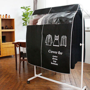 Anti Dust Hanger Clothes Cover Protector Room Decoration Dress Shop Display