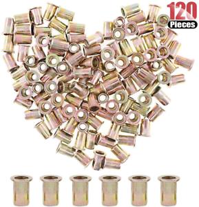 5//16-18 UNC Rivnut Hilitchi 120 Pcs 5//16-18 UNC Rivet Nuts Threaded Insert Nut