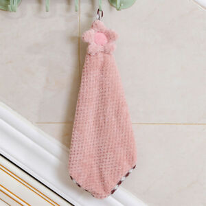 Details about Sunflower Coral Velvet Hanging Hand Towel Bathroom Kitchen  Accessories Lovely