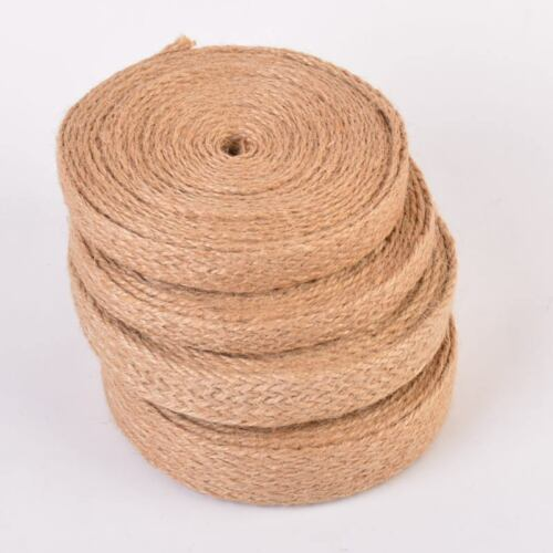 5M Jute Burlap Braided String Hessian Rope Wedding Party Craft Deco Multi Types