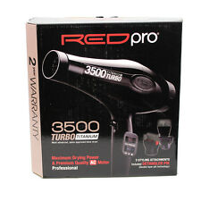 Red Pro Titanium Turbo 3500 Blow Dryer 3 Bonus Attachments Hair Dryer #BDP02N