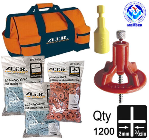 ATR Tile Leveling Alignment System 2mm Cross Pro1200 KIT use for Floor n walls