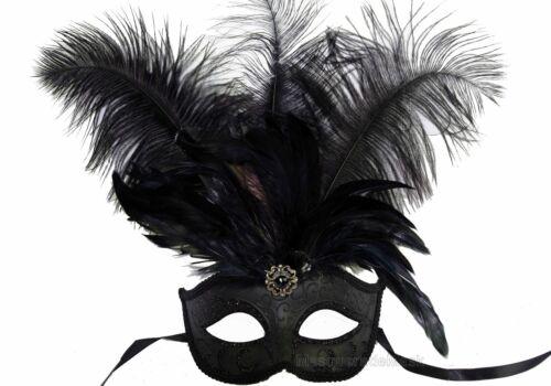 Feather Masquerade Mardi Gras mask Sweet 16s dress birthday school Prom Party