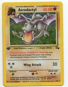 Aerodactyl-1st-Edition-Fossil-Set-1-62-Holo-foil-Pokemon-Card-LP-MP