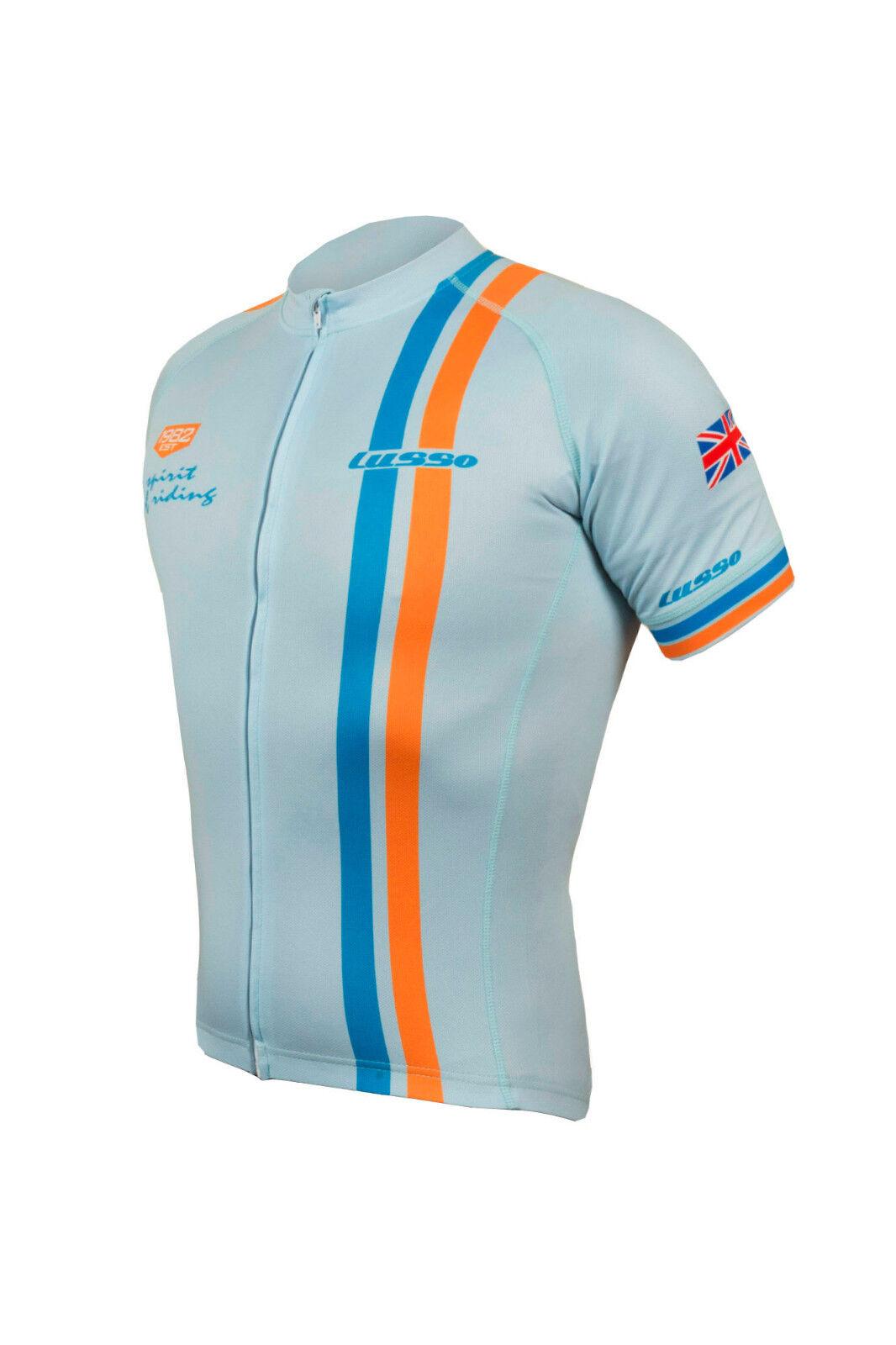 Lusso Men's LeMans Short Sleeve Cycling Jersey bluee S-XXL RRP .99