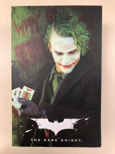 Hot Toys MMS 68 Batman Dark Knight TDK Joker Heath Ledger 12 inch Figure USED