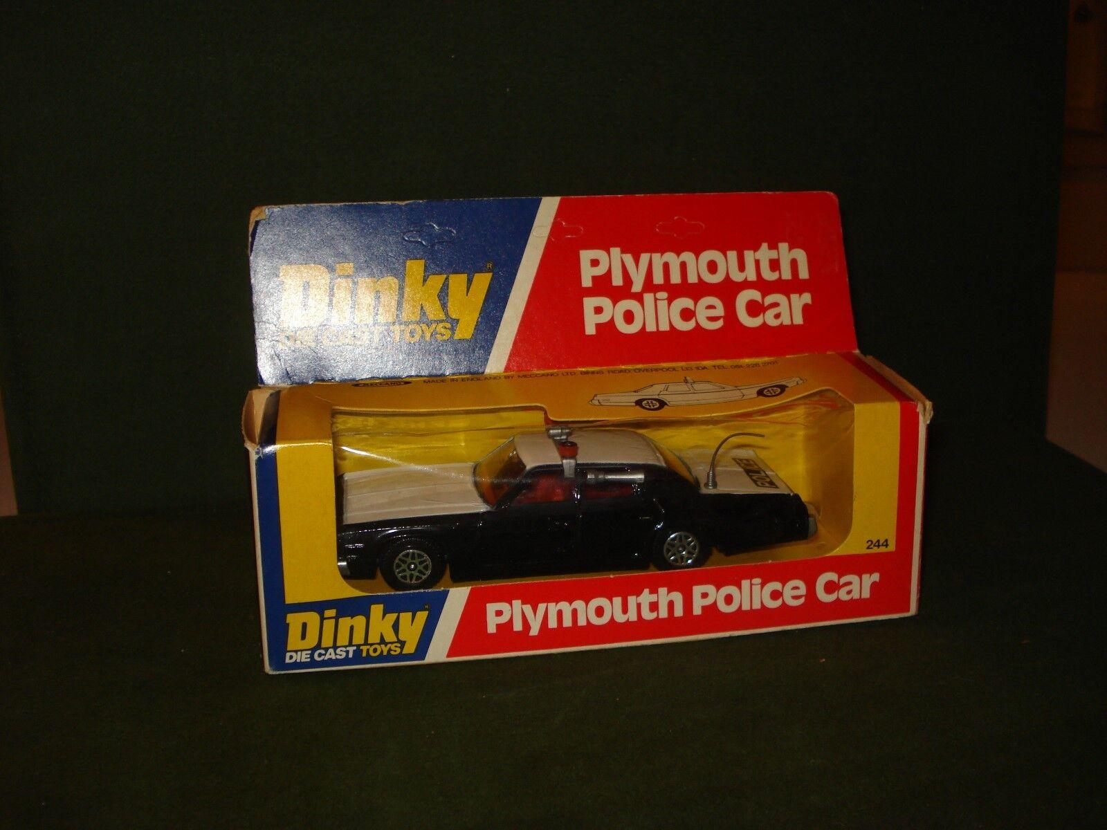 bienvenido a elegir 1977 Dinky Plymouth coche de policía de menta en paquete paquete paquete   244  online al mejor precio