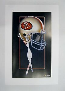 """San Francisco 49ers NFL Football 20""""x 30"""" Team Lithograph Print by Kelly Russell"""