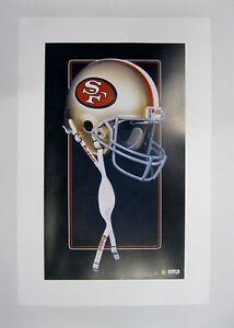 San-Francisco-49ers-NFL-Football-20-034-x-30-034-Team-Lithograph-Print-scarce