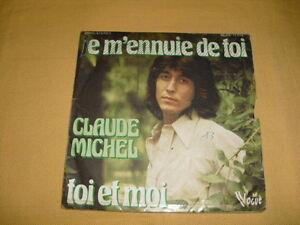 Claude-Michel-Je-M-039-ennuie-De-Toi-45-RPM-7-039-039-Single