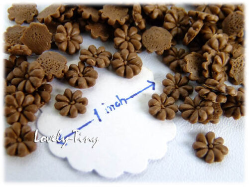100pcs.Wholesale Miniature Cookies Flower shape